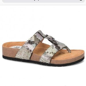 Sofft Bettina Silver Black Cork Stylish Sandals